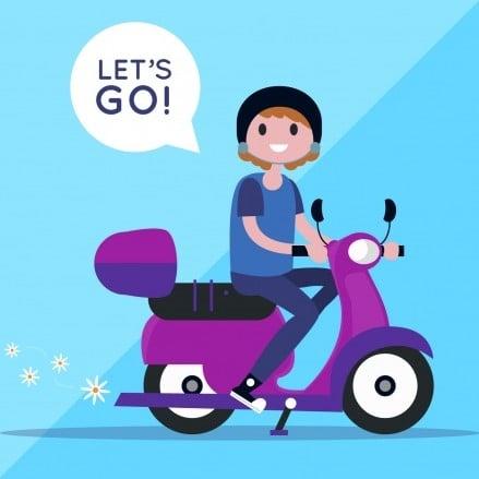 concepto-bici-electrico-mujer-diciendo-lets-go_23-2147698407