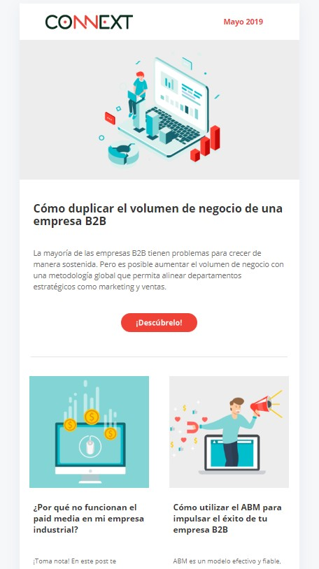 ejemplo email marketing industrial y b2b