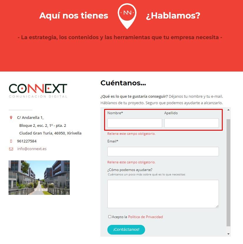 formularios - connext